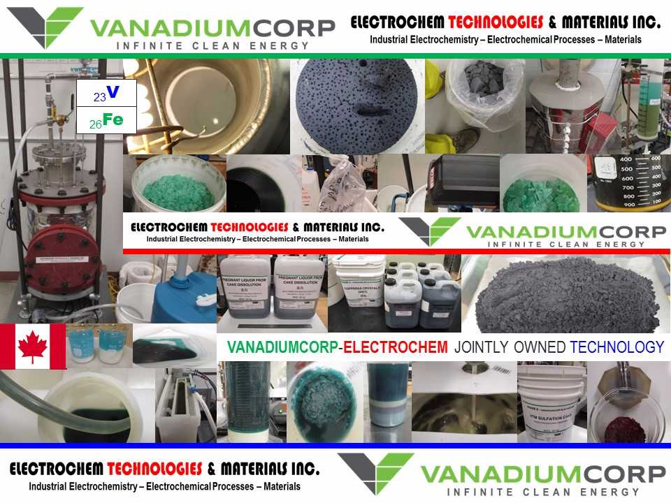 Trial Production Pictures VanadiumCorp Electrochem Process Technology