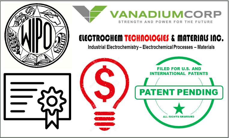 VanadiumCorp and Electrochem Technologies & Materials Inc